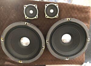 8 inch speaker drivers + Tweeters