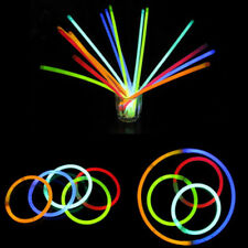 10x Glow Sticks Bracelets Necklaces Neon Colours Party Favors Rave Disco Useful