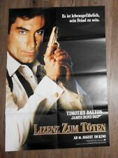 James Bond 007 Licence To Kill - LARGE GERMAN POSTER 835mm x 595mm