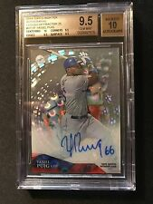 Yasiel Puig - 2014 Topps Tek Clouds Diffractor Auto - BGS Graded 9.5/10 #19/25