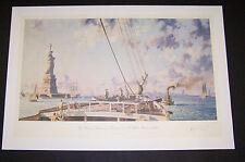 "John Stobart Signed LE Artist Proof  ""Statue of Liberty New York Harbor 1886"""