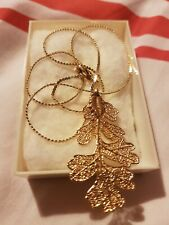 24 Carat Gold Plated Real Lacy Oak Leaves