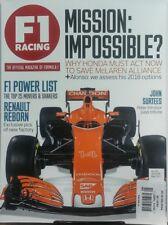 F1 Racing UK May 2017 Honda Must Act Now Save McLaren Alliance FREE SHIPPING sb