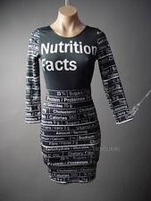 Nutrition Facts Print Pop Art Fashion Designer Style Bodycon Midi 111 ac Dress S