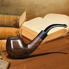 Ylyycc Solid Wood Tobaco Smoking Pipe Plastic Stand Several Accessories Ebony