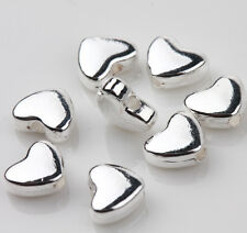 25 Tibetan Silver Heart Spacer Bead Charm Jewelry Finding Making Craft 5x6mm DIY