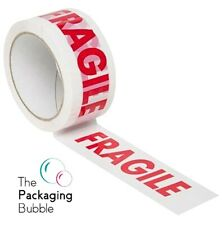 More details for stikky tape fragile low noise packaging parcel packing tape strong 48mm x 66m