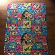 Disney Pocahontas Quilt Meeko Flit Toddler Bed Blanket Throw 42 x 56