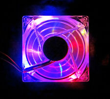 Galaxy 80mm Quad LED Fan w/ Grill (Blue Red Orange Yellow LEDs) Xinruilian NEW