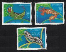 Somalia Caterpillars CV Eur13.- 1999 ** MNH MI#754-756