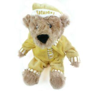 "FAO Schwarz Bear Plush 10""  Toys R Us Sleepy Time Saturday Yellow Pajamas Stuff"