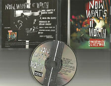 STOMPBOX Now what's it Worth w/ RARE UNRELEASED TRK  PROMO DJ CD Single 1994