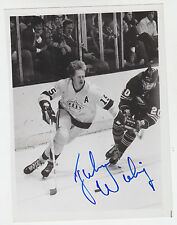 JUHA WHITEY WIDING SIGNED TEAM ISSUE PHOTO CARD KINGS RANGERS BARONS FINLAND WHA