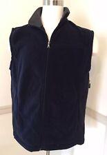NWT St John's Bay Full Zip Vest Men's Large Lg Fleece Polyester Adirondack Navy