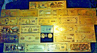 ~MINT COLLECTIBLE LOT~COIN/Flake+ GOLD Banknote Set$1.00-$1M DOLLAR W/COA+ MORE