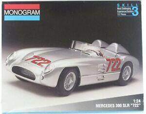 """Sir Stirling Moss #722 Mercedes 300 SLR Monogram 1/24th Model Kit """"Rare"""""""
