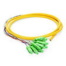 1.5M (5ft) 12 Fibers SC/APC 9/125 Singlemode Bunch Fiber Optic Pigtail - 0.9mm