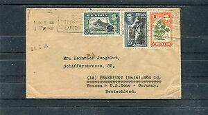 Schöner Bedarfsbrief Ceylon (Sri Lanka) mit Mischfrankatur - b1014