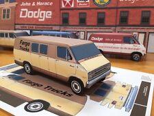 Papercraft FARGO (DODGE) TRADESMAN MAXIVAN 1971-1972 Paper Model Van EZU-make