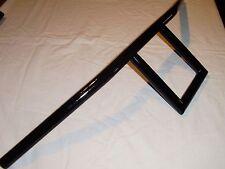 """7/8"""" barras de T cuadrado 6"""" barras de subida en negro hecho a medida para Tri BSA Yam Suz etc."""