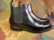 Black lether Loding  shoes Chelsea Boot Size 8 MADE IN FRANCE