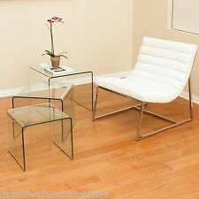Modern Design 3pc Glass Finish Accent Tables