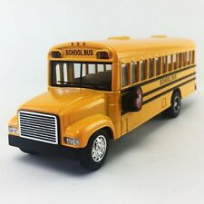 "Kinsfun 6"" inch Yellow School Bus Diecast Model pull back action openable doors"
