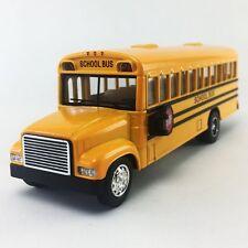 "Kinsfun 6"" inch Yellow School Bus Diecast Model pull back action openable doors"