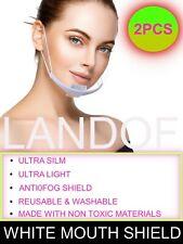 2 or 5 pcs White Transparent plastic anti-fog mouth shield ,restaurants,hotels