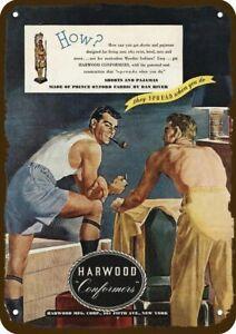 1946 HARWOOD CONFORMERS MEN'S UNDERWEAR Vintage Look DECORATIVE METAL SIGN - 2 M