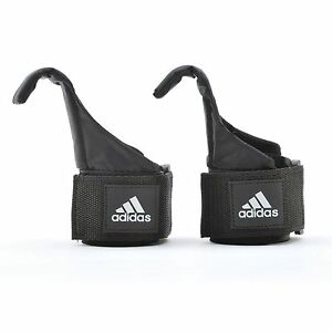 Adidas Hook Weight Lifting Straps Hand Bar Support Power Wrist Wrap Gym Training