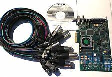 Aja KONA LHi PCI-E HDMI Capture Card Working BNC SDI Complete Breakout Cable CD