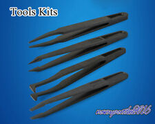 Carbon fiber Special plastic Anti-static Tweezers Tools Kit For Semiconductor IC