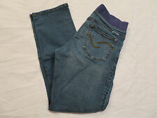 Mommi Maternity Jeans Blue Stretch Denim Pants Womens L Large  Inseam 30""
