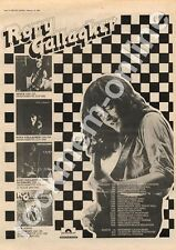 Rory Gallagher Blueprint Preston Public Hall MM3 LP/Tour advert 1973