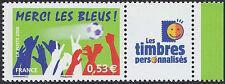 "2006 FRANCE N°3936A** PERSONNALISE Football ""Merci les Bleus"" Logo ""TP"""