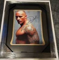Dwayne Johnson signed framed 11x14 photo with certificate of authenticity