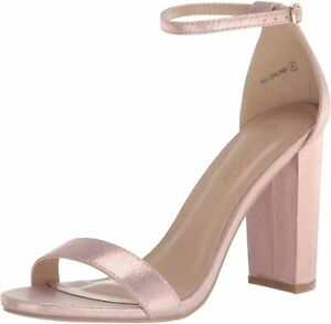 Womens High Chunky Block Heel Sandals Ankle Strap Open Toe Wedding Dress Shoes