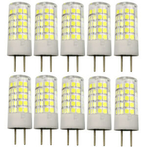 10x GY6.35(GX6.35) 64-2835 LED Bulb Light AC/DC 12V Lamp Ceramics Lights 5W