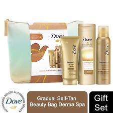 Dove Gradual Self-Tan Beauty Bag Derma Spa 3pcs Gift Set For Her with Beauty Bag