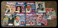 **9 vintage PEOPLE Princess Diana Prince William Harry England Fergie Magazines!
