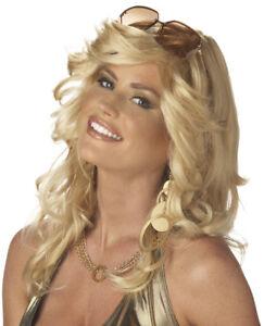Adult Long Blonde Blond 70s Farrah Fawcett DiscoRama Mama Costume Wig