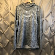 Men's NIKE DRI-FIT HOODED PULLOVER SWEATER - AO5918-010 - LARGE NWT