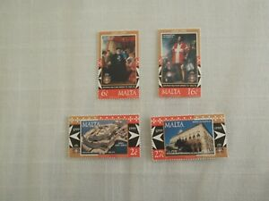 MALTA STAMPS 1999 - MILITARY ORDER OF MALTA - SET OF FOUR - MINT NEVER HINGED