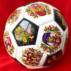 "Russian Souvenir Small Soccer Ball ""Matryoshka"", Diameter 15 cm"