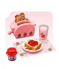 """Re-Ment """"Strawberry World"""" #10- Toaster Toast, 1:6 minis Barbie dollhouse scale"""