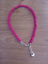 Wooden pink bead anklet/ankle bracelet