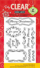 "Hero Arts Clear Stamp Set - Fancy Christmas Messages Holidays 4"" x 6"""