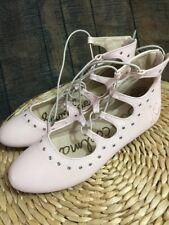 NEW Sam Edelman BIG Girls Felicia Stella Eyelet Ballet Flat Rose Girl Size US5