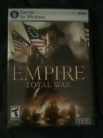 Empire: Total War (PC, 2009) Windows 2 Discs With CD Key